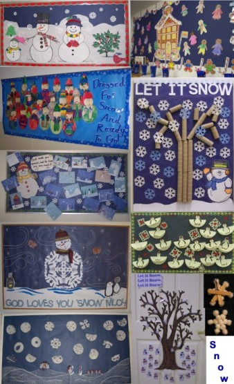 Classroom Bonus Winter Bulletin Board Page